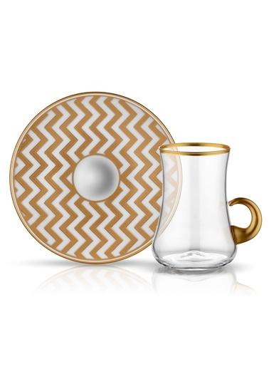 Koleksiyon Dervish Kulplu Çay Seti 6'lı Zigzag-Koleksiyon